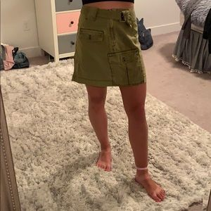 green free people skirt
